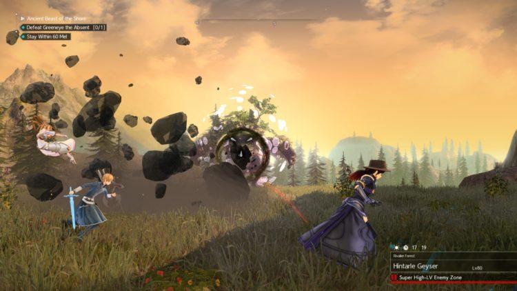 Sword Art Online Alicization Lycoris Greeneye The Absent Divine Beast Rivalier Forest Sustnel Mountains Monolith 5c