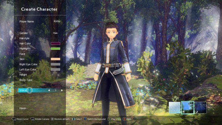 Sword Art Online Alicization Lycoris Kirito's Hut Customize Character Change Appearance Cosmetic Transmog Visualize Attire 1
