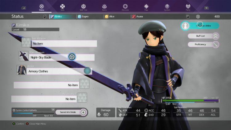 Sword Art Online Alicization Lycoris Kirito's Hut Customize Character Change Appearance Cosmetic Transmog Visualize Attire 2