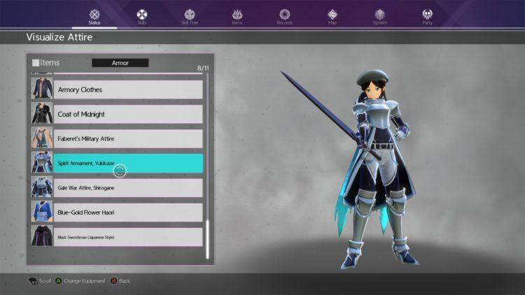 Sword Art Online Alicization Lycoris Kirito's Hut Customize Character Change Appearance Cosmetic Transmog Visualize Attire 3