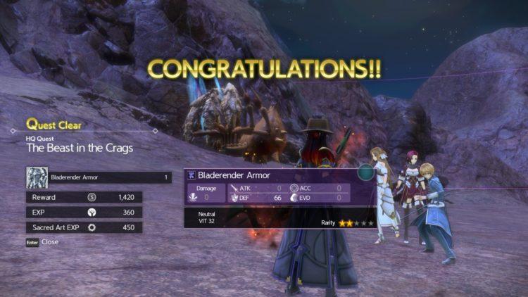 Sword Art Online Alicization Lycoris Lightseeker The Divine Divine Beast Guide Monolith Minelda Rocks 4c