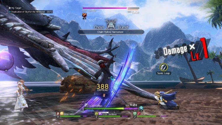 Sword Art Online Alicization Lycoris Skyfish The Whirlpool Boss Fight Guide 6