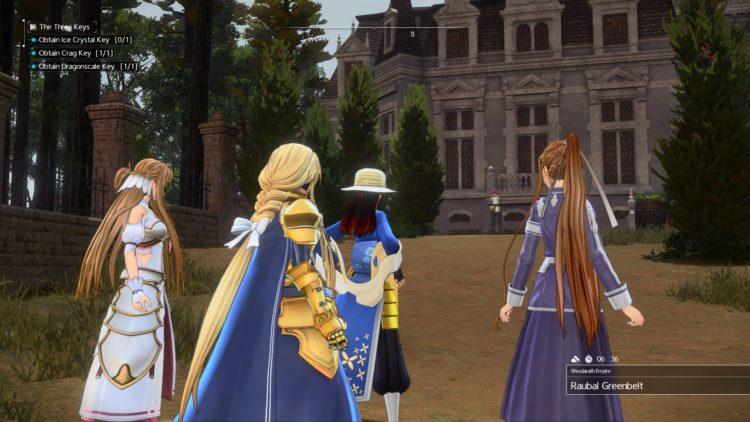 Sword Art Online Alicization Lycoris The Three Keys Main Quest Drugo's Temple 3b