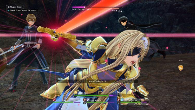 Sword Art Online Alicization Lycoris Combat Guide Skill Connect Sword Skills Chain Burst Hazard 3