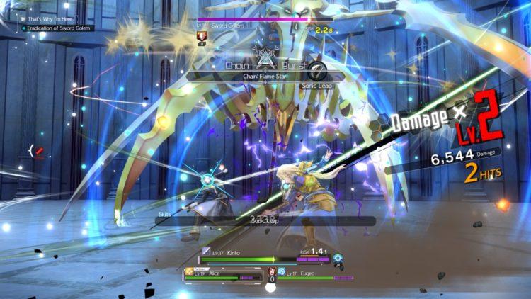 Sword Art Online Alicization Lycoris Combat Guide Skill Connect Sword Skills Chain Burst Hazard 4