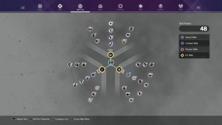 Sword Art Online Alicization Lycoris Unlock Sword Skills Weapon Skills Skill Tree 1