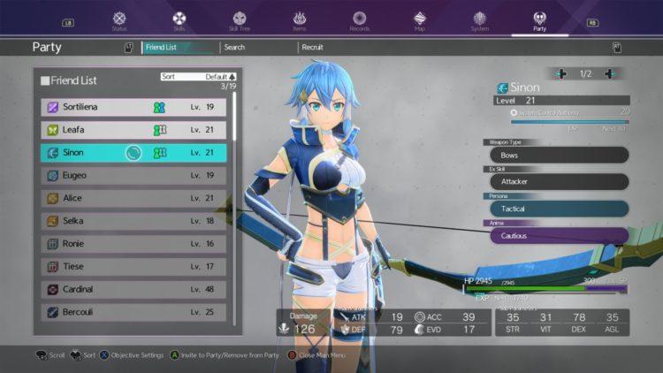 Sword Art Online Alicization Lycoris Unlock Sword Skills Weapon Skills Skill Tree 2
