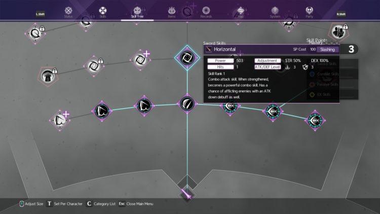 Sword Art Online Alicization Lycoris Unlock Sword Skills Weapon Skills Skill Tree 3