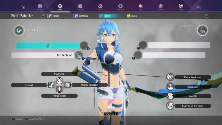 Sword Art Online Alicization Lycoris Unlock Sword Skills Weapon Skills Skill Tree 4