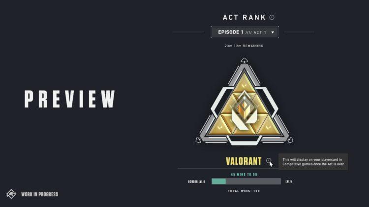 Valorant Act Rank Badge