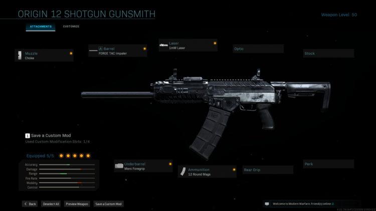 Warzone Origin-12 Rush Build