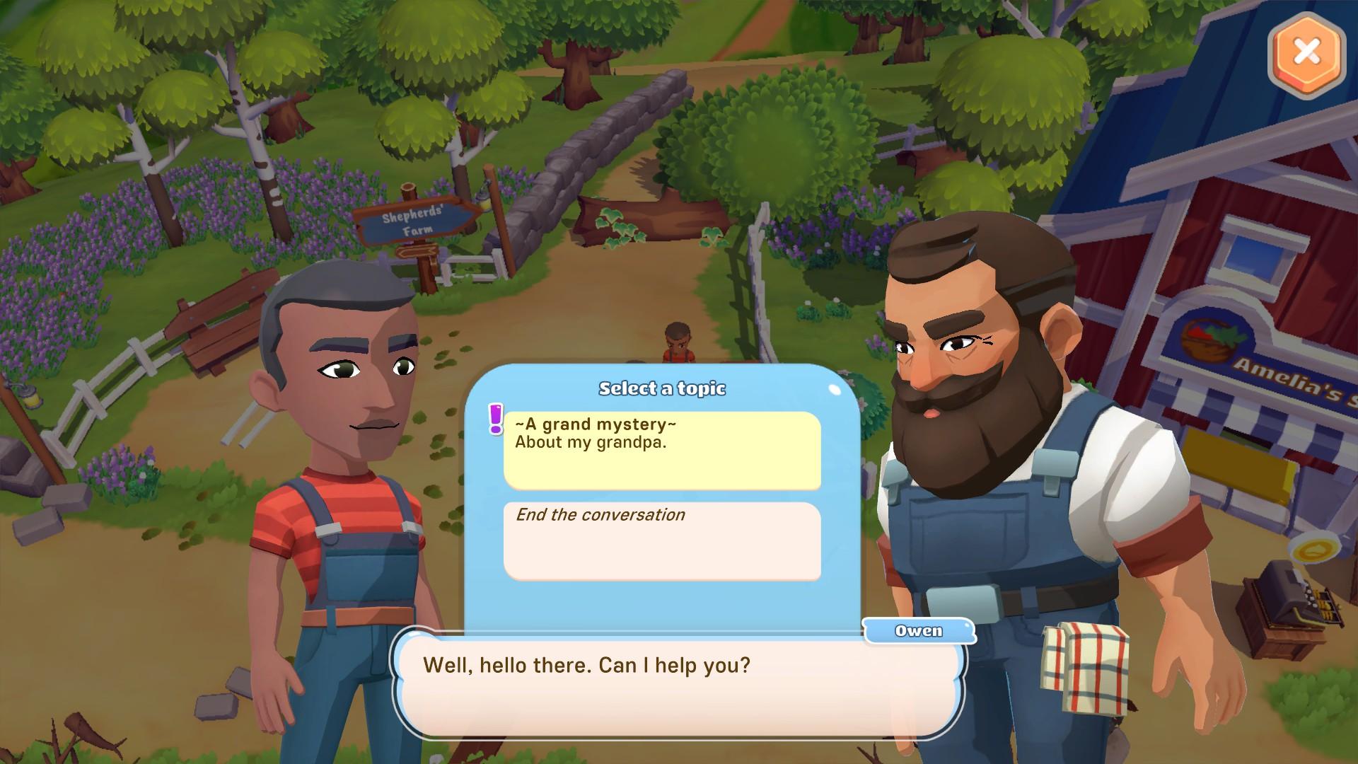 Big Farm Story Dialogue