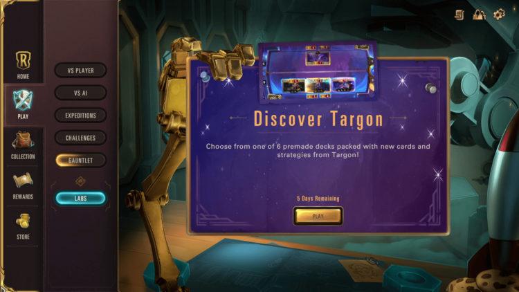 Legends of Runeterra new Targon Lab