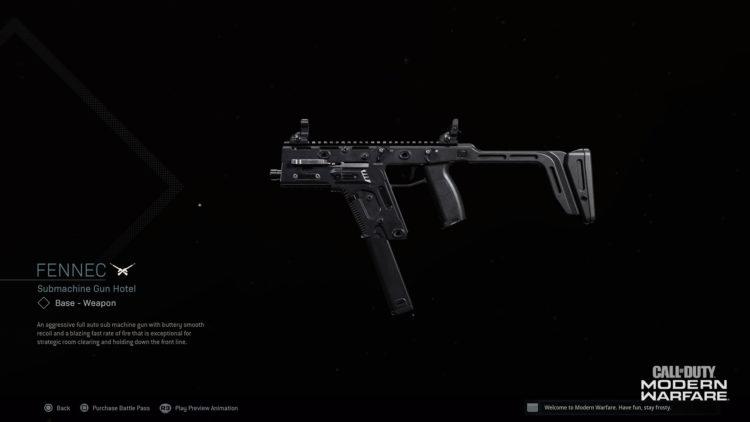 Call of Duty warzone Fennec
