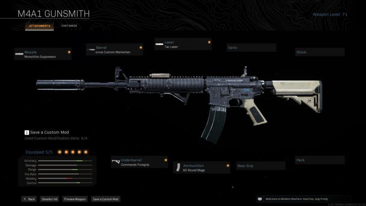M4a1 Warzone Loadout