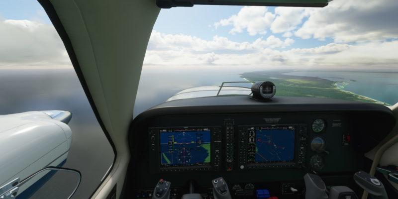 Microsoft Flight Simulator Baron Cockpit