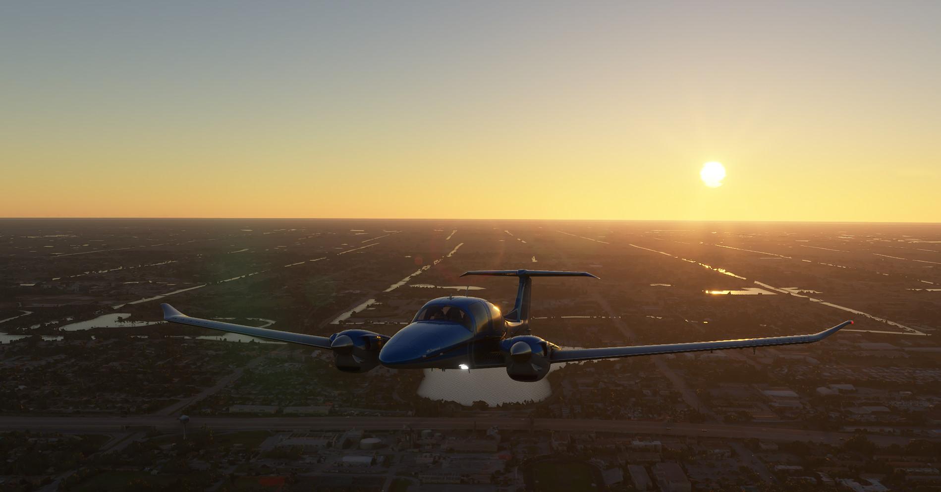 Microsoft Flight Simulator Diamond Over Palm Beach