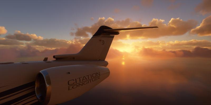 Microsoft Flight Simulator Lima Peru Citation Sunset