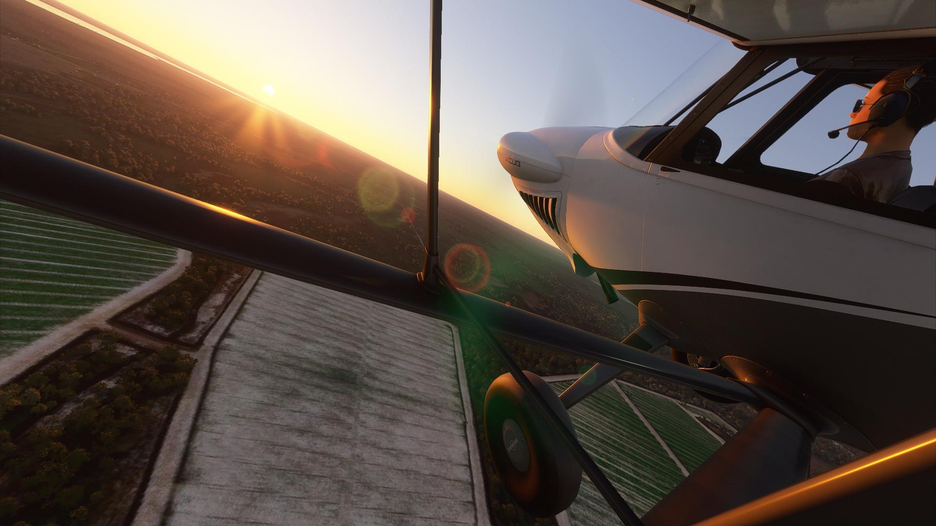 Microsoft Flight Simulator Ранчо Пайпер над рекой