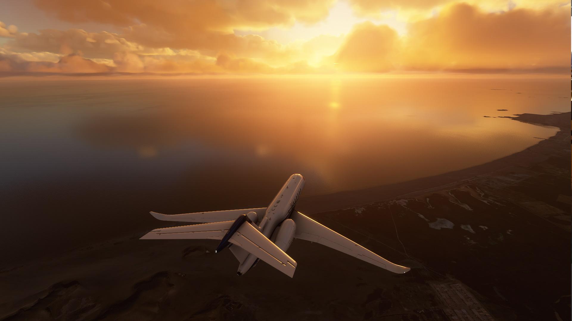 Microsoft Flight Simulator Sunset Over Lima