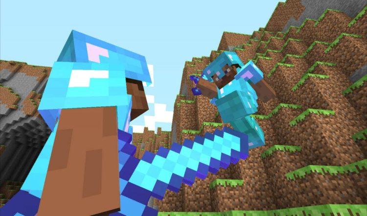 Minecraft combat test PVP