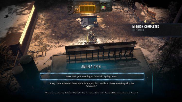 Wasteland 3 Final Battle Final Act Angela Deth Or Patriarch 1b
