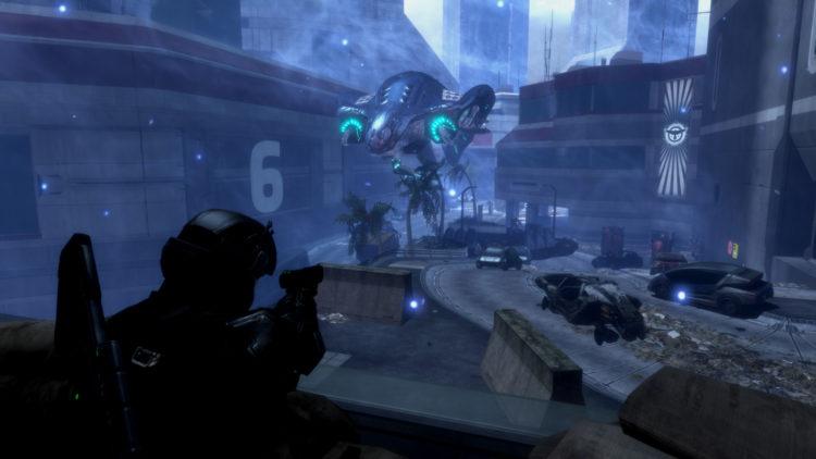 Halo 3: ODST flight firefight