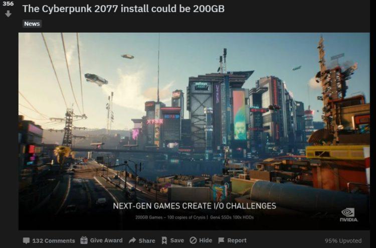 Cyberpunk 2077 install size