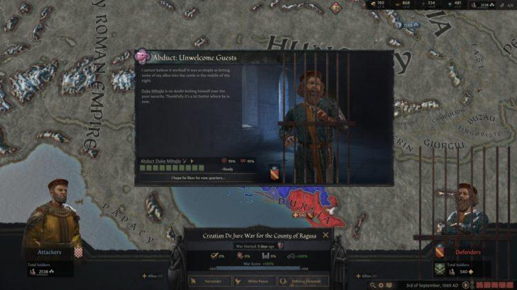 Crusader Kings Iii Crusader Kings 3 Win Wars Cheese Exploit Abduction 1b