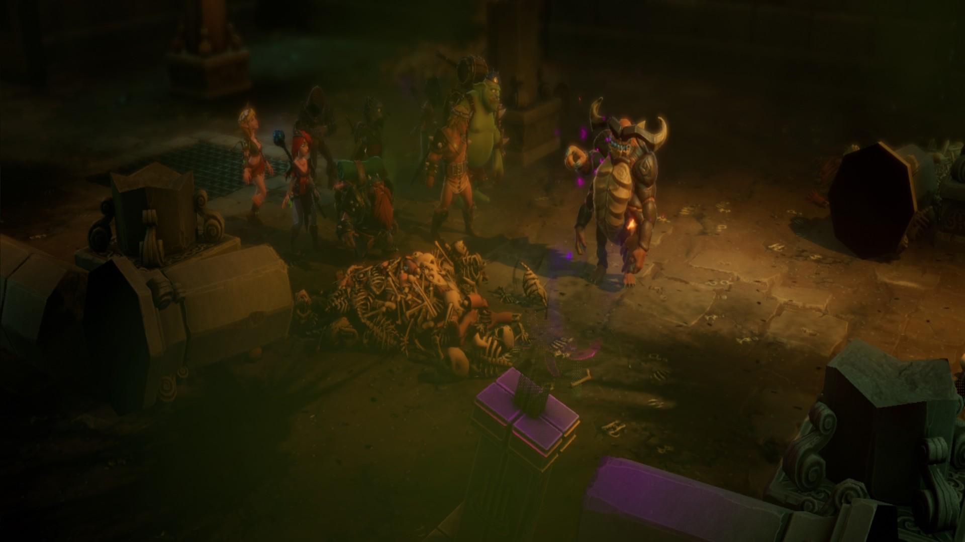 Dungeon Of Naheulbeuk Golbargh Secret Boss Demon Statues Puzzle Demonomicon
