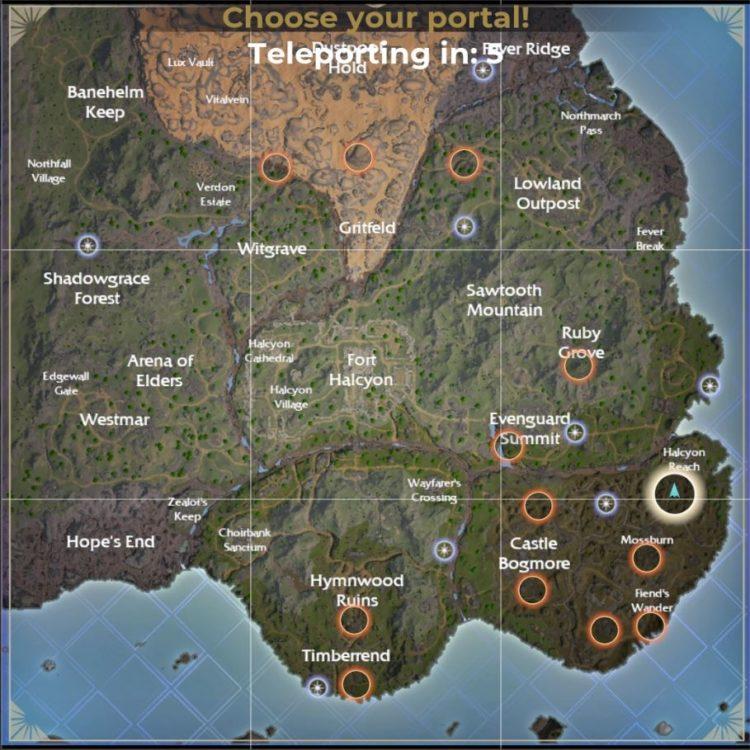 Hollow Lands Map