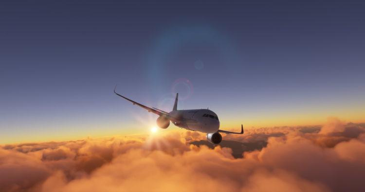 Microsoft Flight Simulator Airbus A320 Sunset