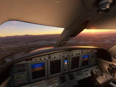 Microsoft Flight Simulator Cessna Citation Cj4 Cockpit Moutnain View