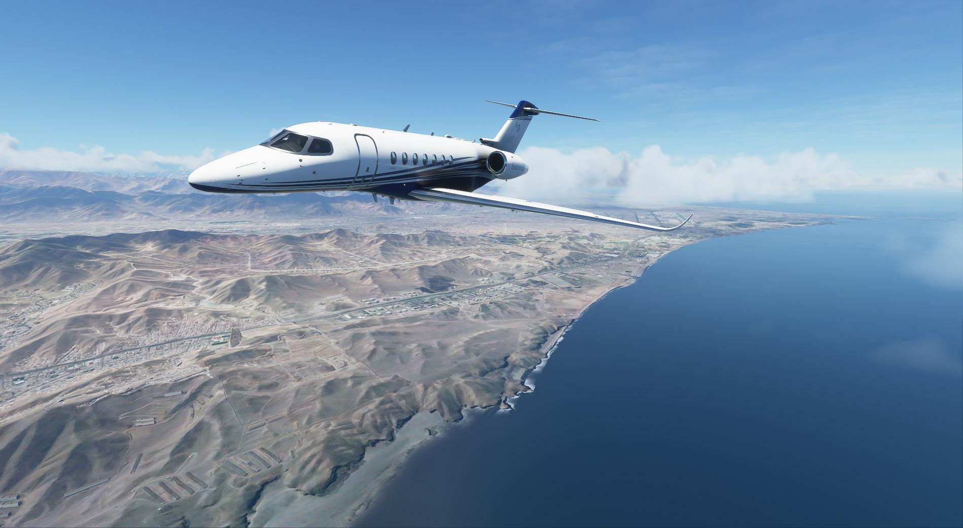 Microsoft Flight Simulator Longitude Over Lima Peru