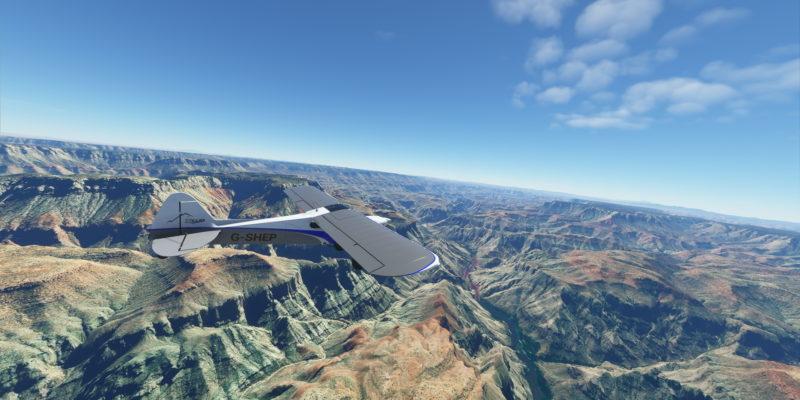 Microsoft Flight Simulator Xcub In The Grand Canyon2