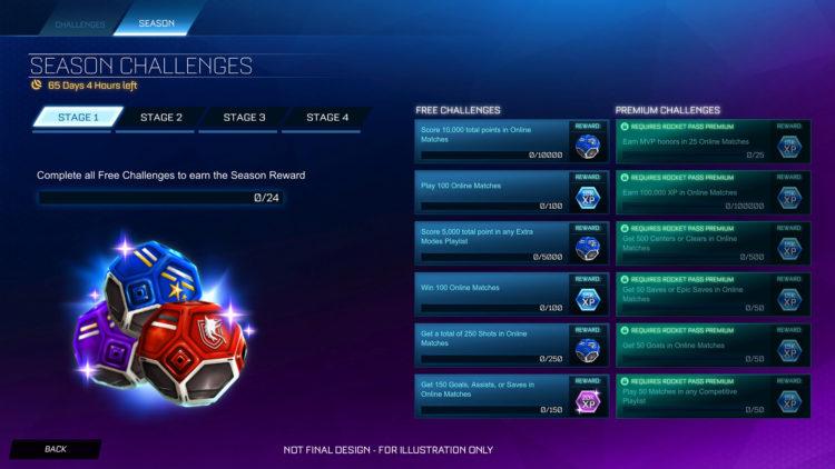 Rocket League Season 1 Challenges
