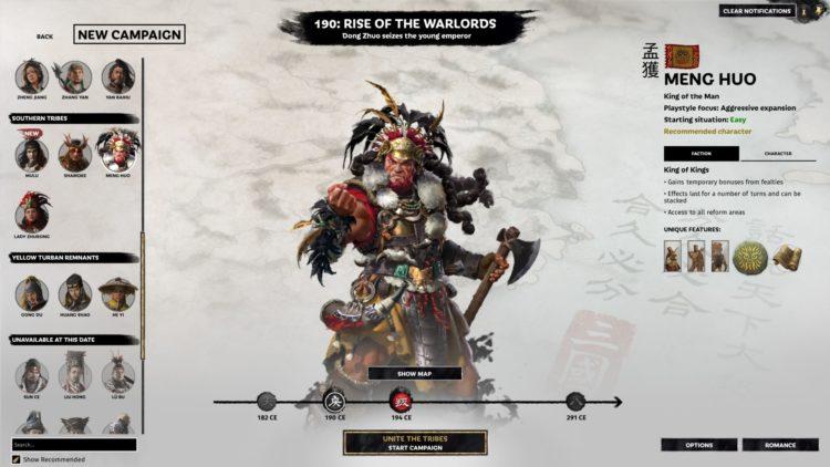 Total War Three Kingdoms The Furious Wild Nanman Meng Huo Guide 1a