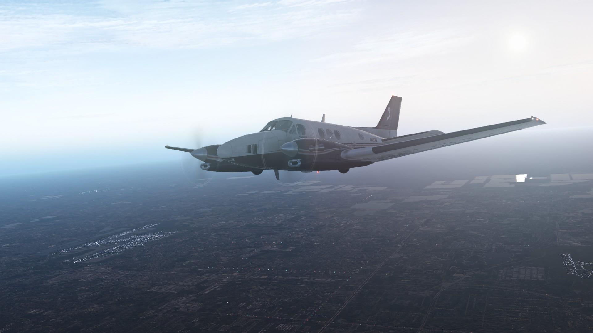 X Plane 11 King Air Over Fl
