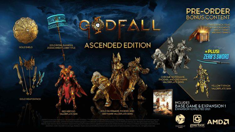 Godfall release date Ascended Preorder