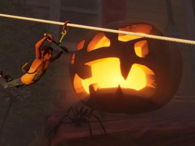 Grounded Sept Update Ziplines Hedges Pumpkins