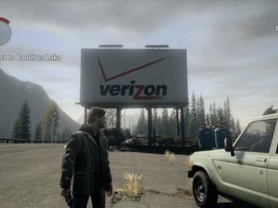 Alan Wake remastered product placement verizon