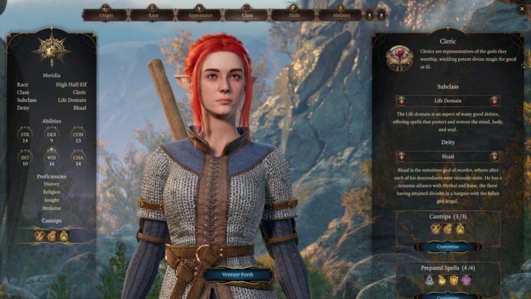 Baldur's Gate 3 Cleric Class Skills Guide 1