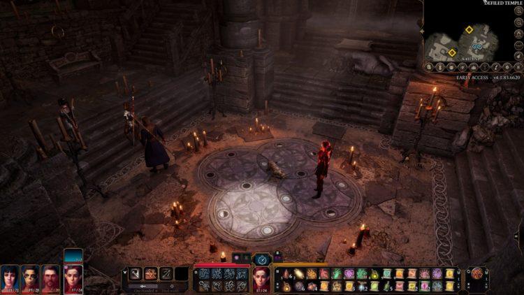 Baldur's Gate 3 Defiled Temple Moon Puzzle Guide 2