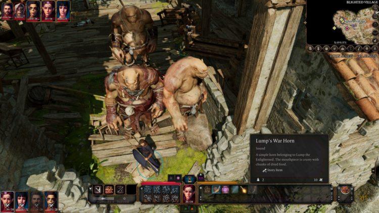 Baldur's Gate 3 Ogre Summon Lump's War Horn Lump The Enlightened One 2