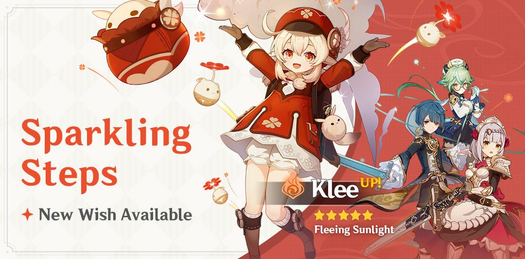 Genshin Impact Sparkling Steps Wish Klee