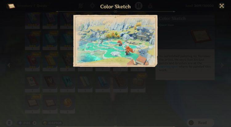 Genshin Impact Vermeer Paintbrush Vermeer Painting Strange Rocks 1a