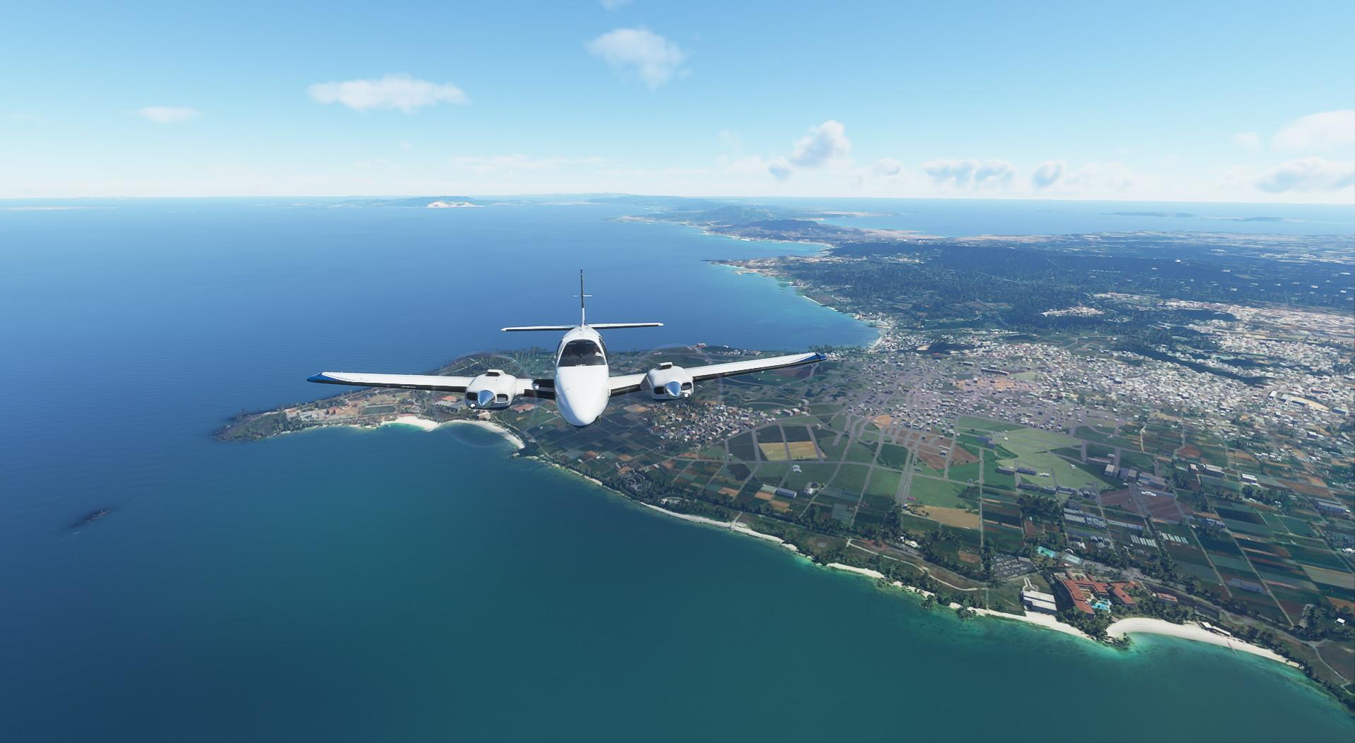 Microsoft Flight Simulator Beechcraft Baron Over Japan 2