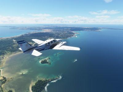 Microsoft Flight Simulator Beechcraft Baron Over Japan