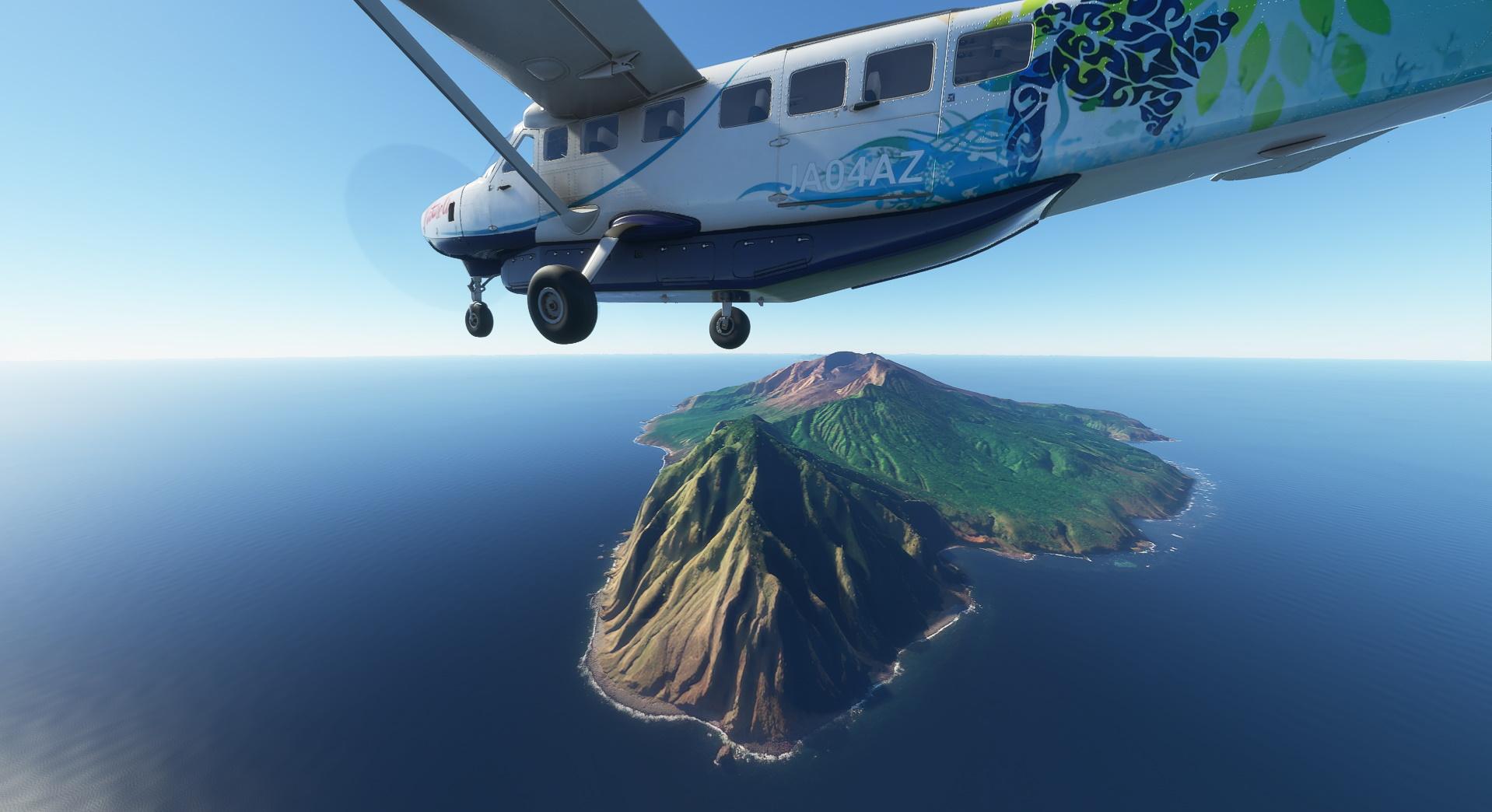 Microsoft Flight Simulator Caravan Over The Japanese Isles
