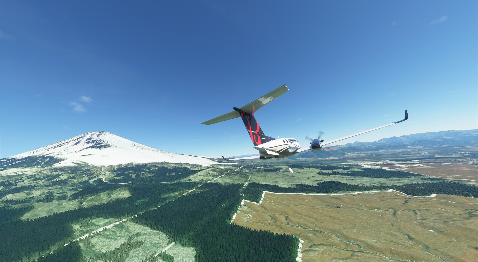 Microsoft Flight Simulator King Air And Mt Fuji